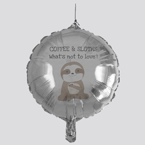 Coffee and Sloths Mylar Balloon