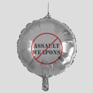 No assault weapons, gun control Balloon