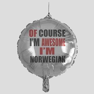 Of Course I Am Norwegian Mylar Balloon