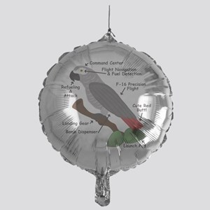 Anatomy of an African Grey Parrot Balloon