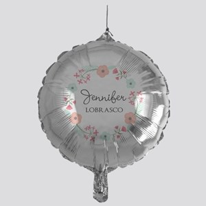 Personalized Floral Wreath Balloon