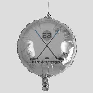 Ice Hockey Personalized Mylar Balloon