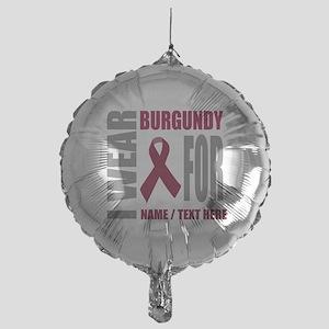 Burgundy Awareness Ribbon Customized Mylar Balloon