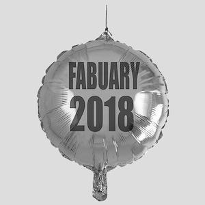 February 2018 Birthday Designs Mylar Balloon