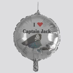 I heart captain jack Mylar Balloon