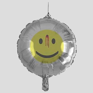 4-3-bulletholesmiley Mylar Balloon