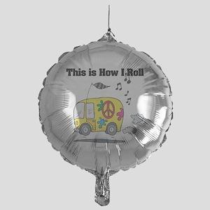 3-hippie bus Mylar Balloon