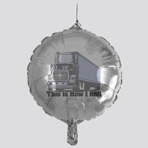 tractor trailer Mylar Balloon