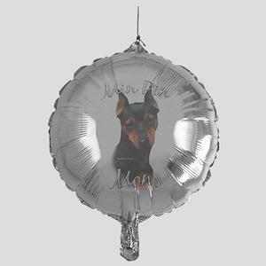 MiniPinblackMom Mylar Balloon