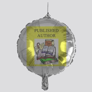 geek published author gifts t-shirts Mylar Balloon
