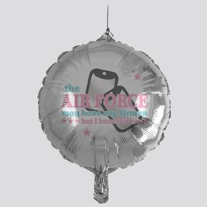His heart Air Force Mylar Balloon