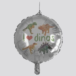 I Love Dinos Mylar Balloon