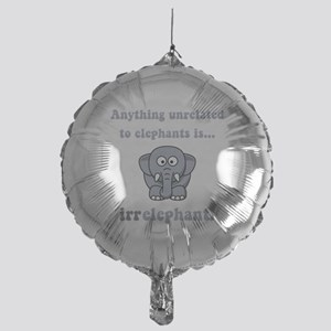 Irrelephant Grey Mylar Balloon