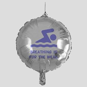 Breathing Weak Blue Mylar Balloon