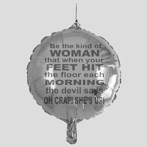 Oh Crap Devil Mylar Balloon