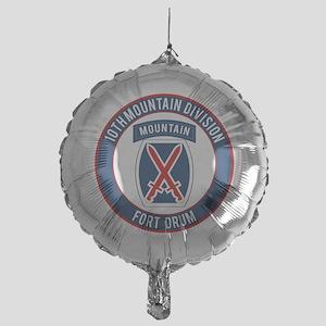 10th Mountain Ft Drum Mylar Balloon