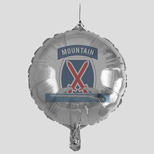10th Mountain CIB Mylar Balloon
