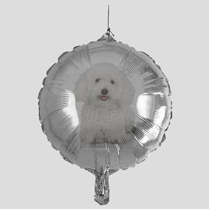 Bichon Frise Mylar Balloon