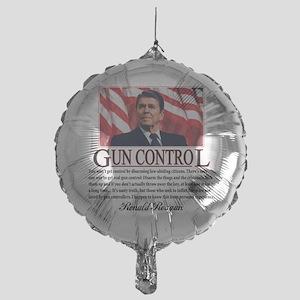 ronald reagan guncontrol Mylar Balloon