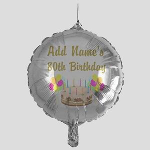 HAPPY 80TH BIRTHDAY Mylar Balloon
