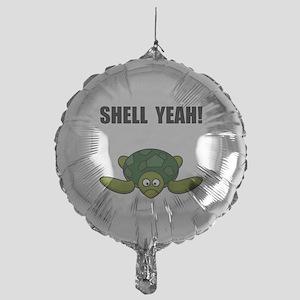 Shell Yeah Black Mylar Balloon