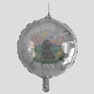 Blossoms-BlackCocker Mylar Balloon