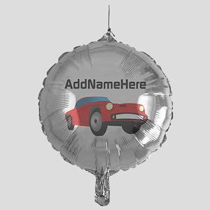 Sports Car, Custom Name Mylar Balloon