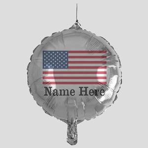 Personalized American Flag Mylar Balloon