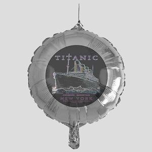 Titanic Neon (black) Mylar Balloon