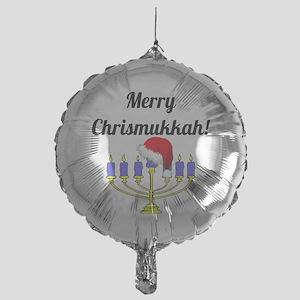 Merry Chrismukkah Menorah Mylar Balloon