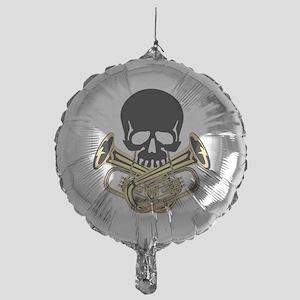 Skull with Tuba Crossbones Balloon