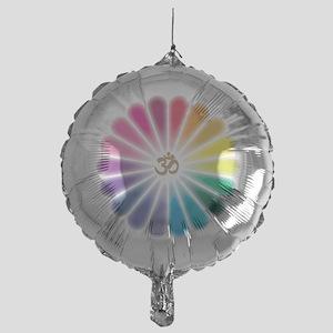 Om Rainbow Flower Balloon