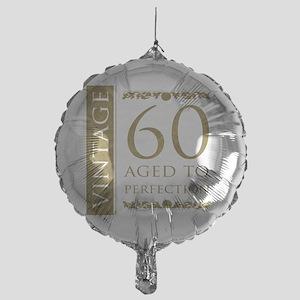 Fancy Vintage 60th Birthday Mylar Balloon