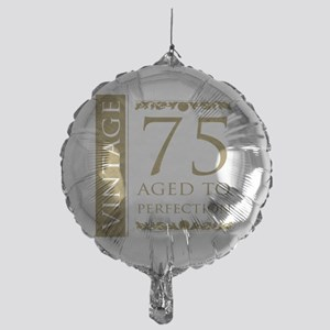 Fancy Vintage 75th Birthday Mylar Balloon
