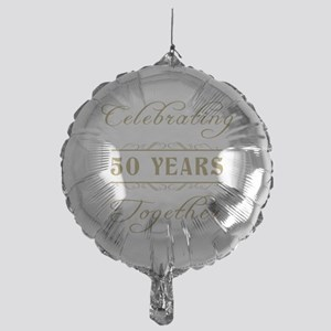 Celebrating 50 Years Together Mylar Balloon