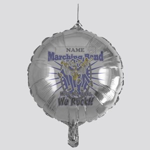 Marching Band Rocks(Blue) Mylar Balloon