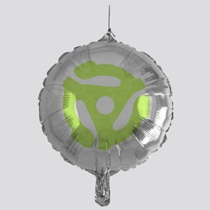 Lime Green Distressed 45 RPM Adapter Mylar Balloon