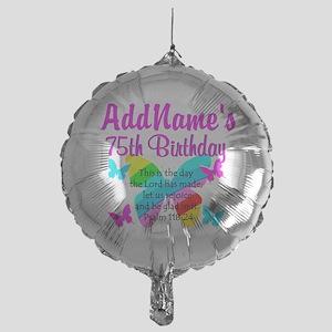 75TH BUTTERFLY Mylar Balloon