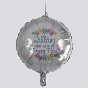 Quilting Happy Place Mylar Balloon