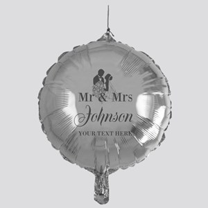 Personalized Mr And Mrs For Newly Mylar Balloon