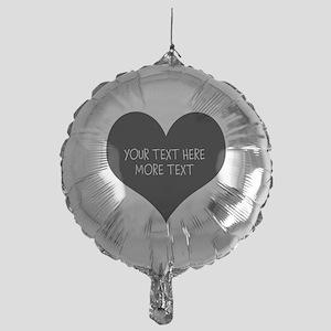 Black Heart For Wedding Party Mylar Balloon