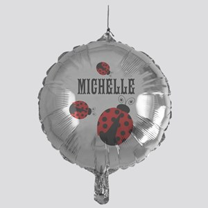 Cute Red   Black Ladybugs Name Balloon