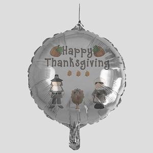 Happy Thanksgiving Pilgrims and Turkey Balloon