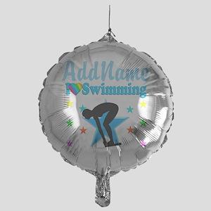SWIM TEAM Mylar Balloon