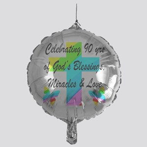 90 YR OLD BLESSING Mylar Balloon
