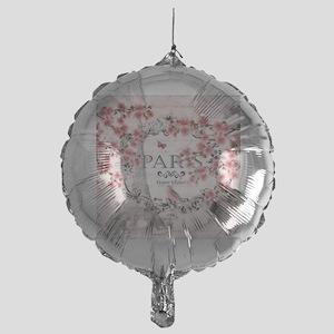 Paris spring Mylar Balloon