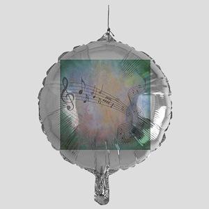 Abstract Music Mylar Balloon
