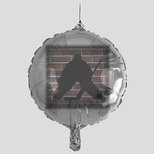 Hockie Goalie Brick Wall Mylar Balloon