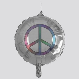 Multicolored Peace Sign Mylar Balloon