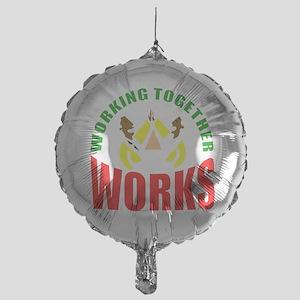 African American teamwork Mylar Balloon